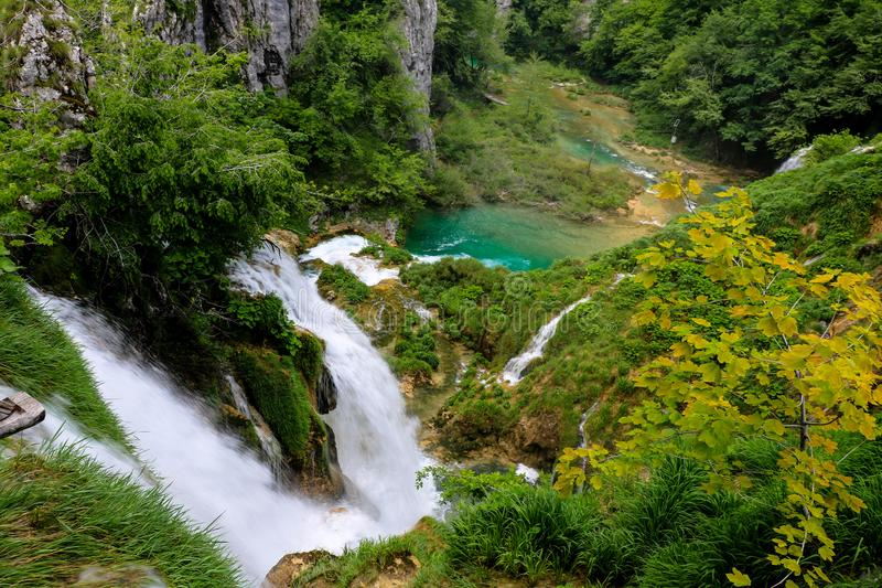Amazing Plitvice Lakes National Park, Croatia stock photo