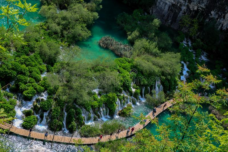 Amazing Plitvice Lakes National Park, Croatia royalty free stock photo