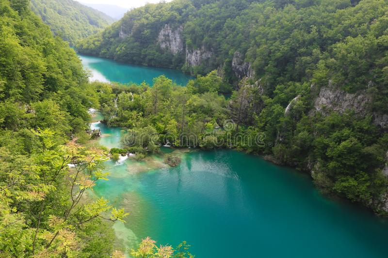 Amazing Plitvice Lakes National Park, Croatia. The Plitvice Lakes National Park, Croatia's most popular tourist attraction, was granted UNESCO World royalty free stock photo