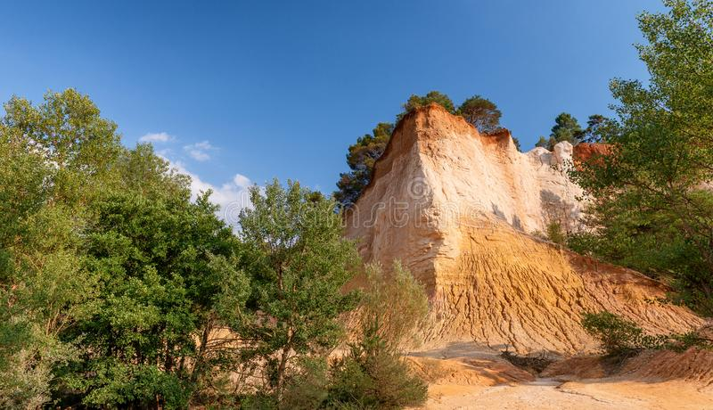 Amazing red landscape of Colorado Provencal, France.  royalty free stock photography