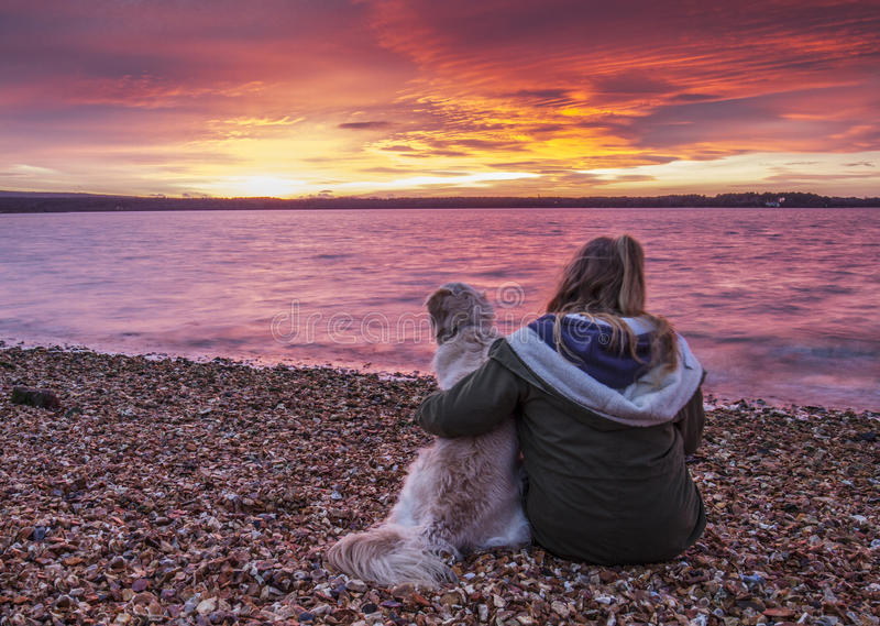 amazing red sky over bay royalty free stock photo