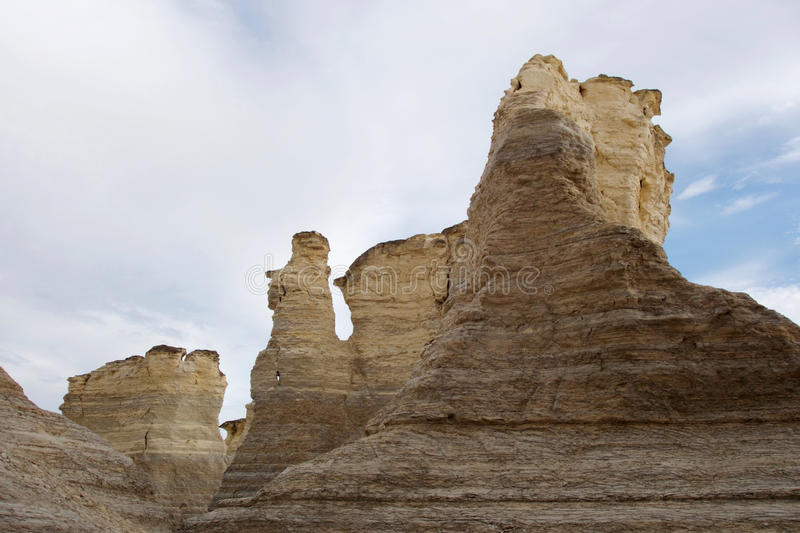 Amazing Rock Formations at Monument Rocks royalty free stock photography