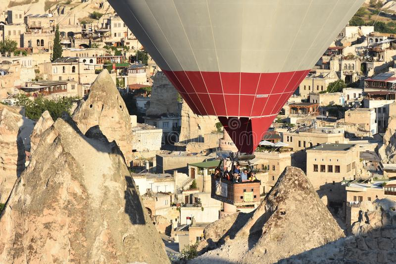 Cappadocia, Turkey. Amazing rocky landscape in Cappadocia. Goreme, Kapadokya, Turkey royalty free stock photography