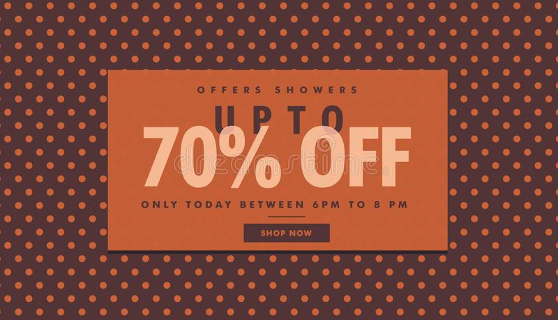Amazing sale and discount banner template with offer details vector illustration