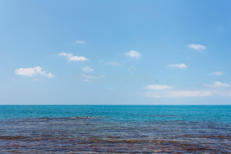 Amazing sea view with coastal reefs and clear water stock image
