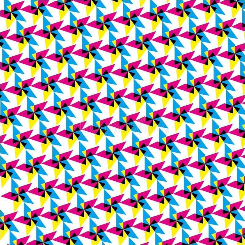 The Amazing of Seamless Colorful Black, Yellow and Blue , Abstract Pattern Wallpaper vector illustration