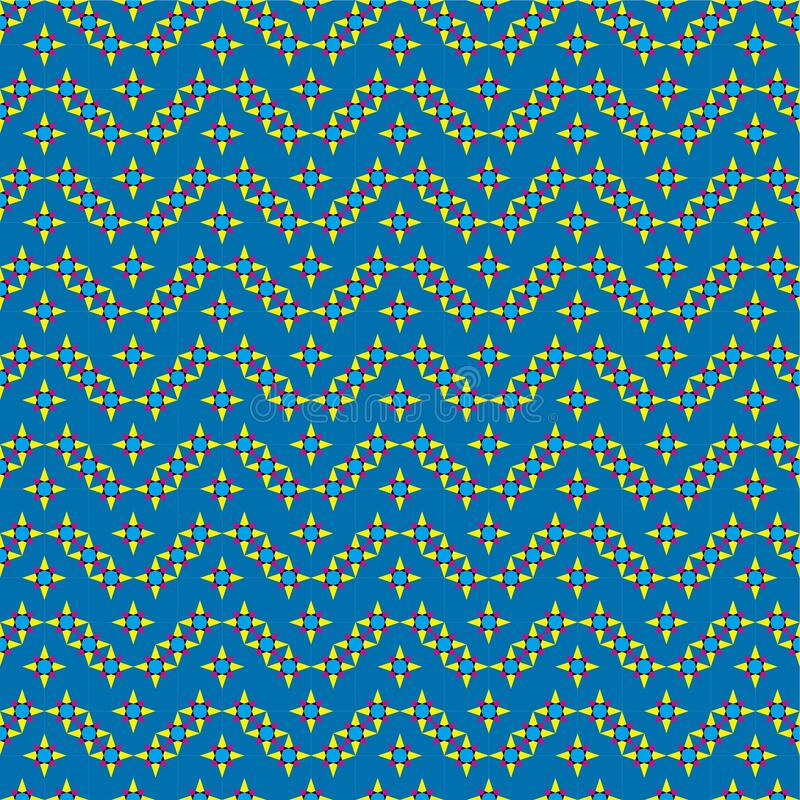 The Amazing of Seamless Colorful Blue and Yellow , Abstract Pattern Wallpaper. This is my design about Pattern Wallpaper and I hope you like it. With title : The stock illustration