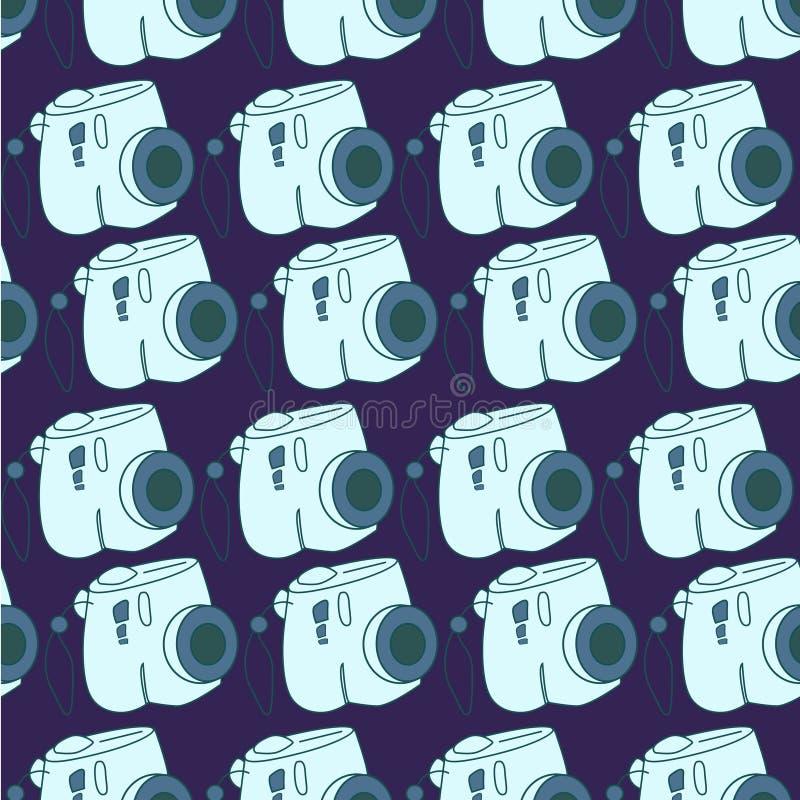 Amazing seamless vintage camera pattern.Vector seamless pattern with camera. vector illustration