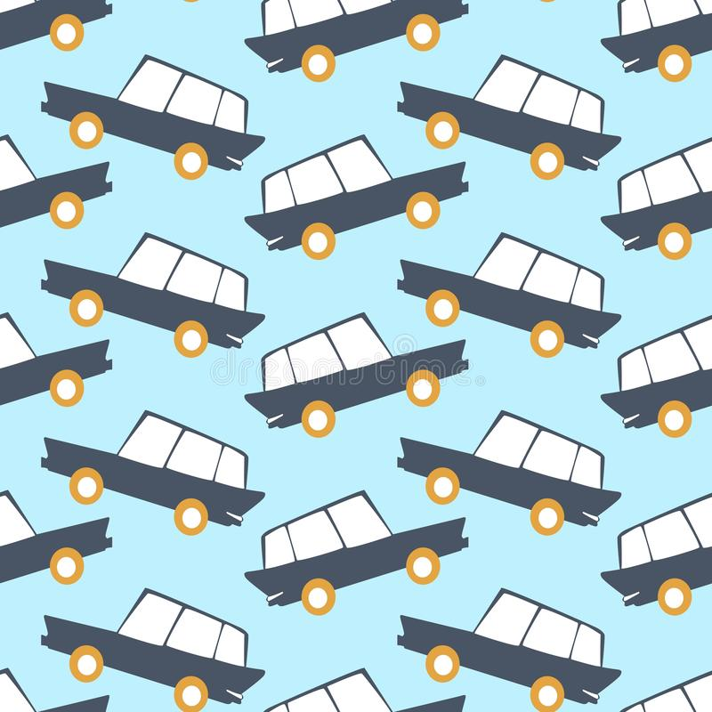 Amazing seamless vintage car pattern.Vector seamless pattern with cars.Baby pattern. vector illustration