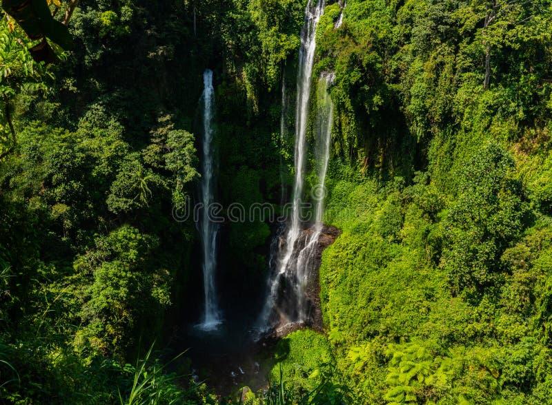 Amazing the Sekumpul waterfall in Bali, Indonesia stock photo