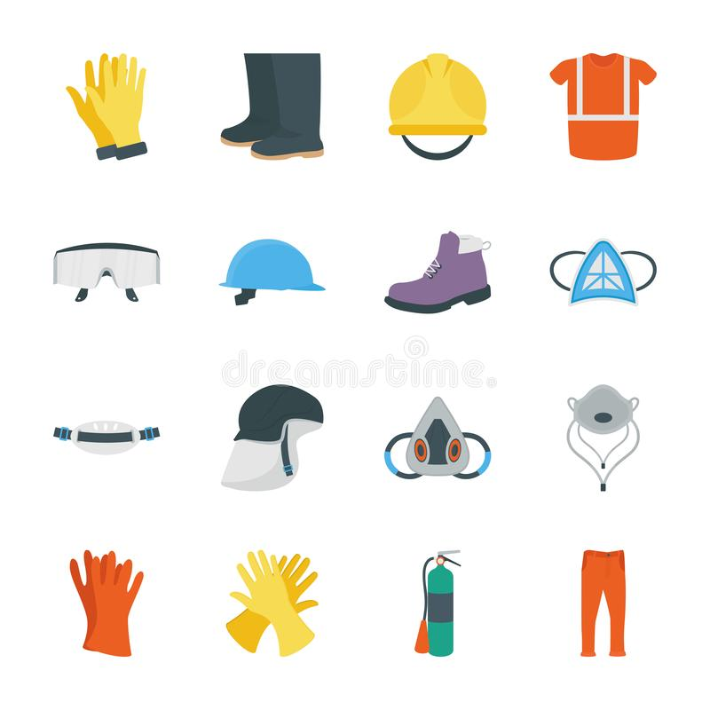 Personal protective equipment icons vector illustration