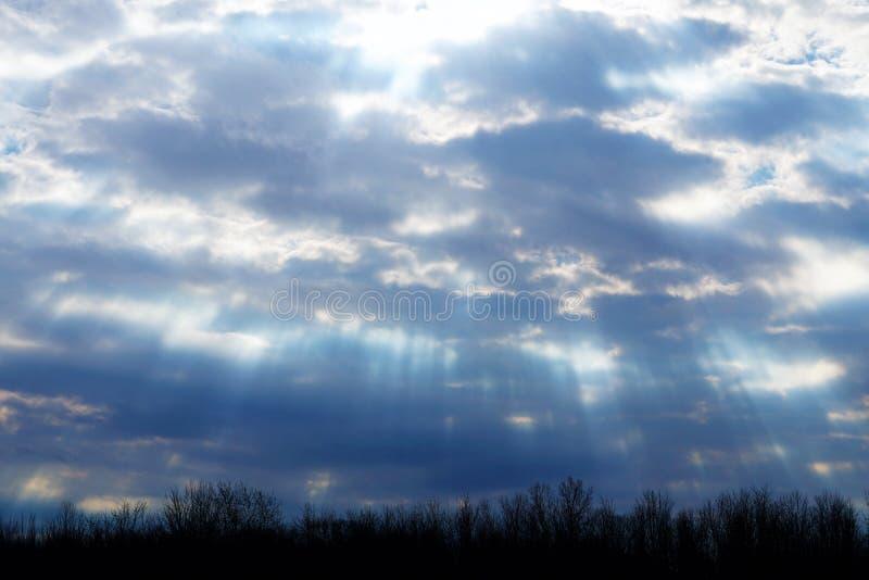 Amazing Shafts of Heavenly Sunlight royalty free stock image