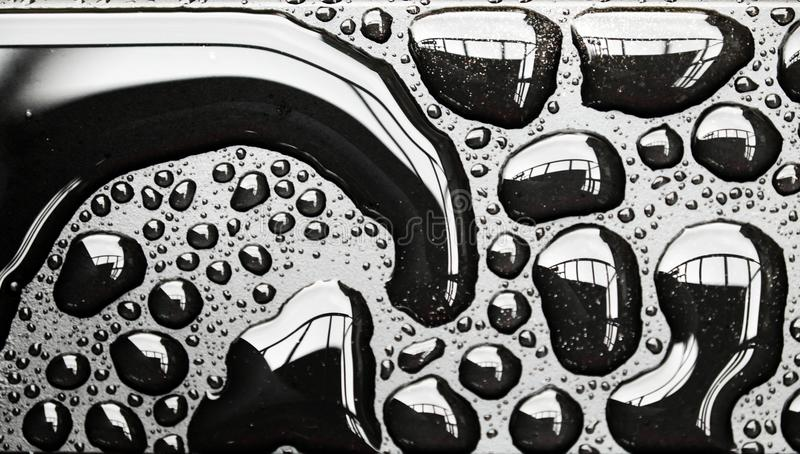Amazing shape of rain drop royalty free stock image
