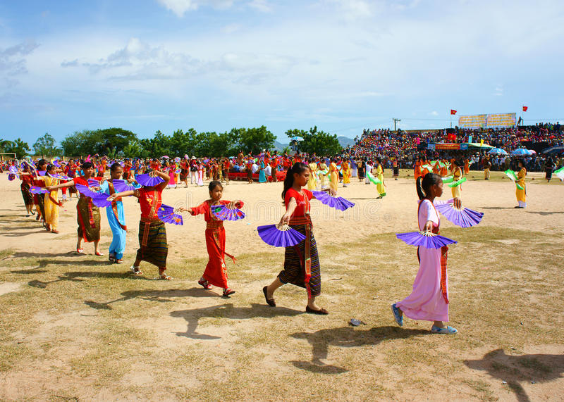 Amazing show, Vietnamese stadium, Kate carnival stock images