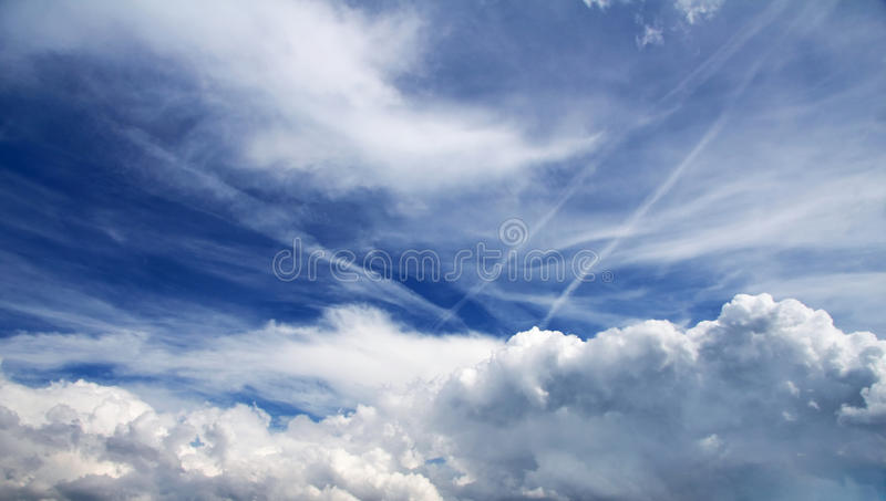 Amazing sky with clouds royalty free stock photos