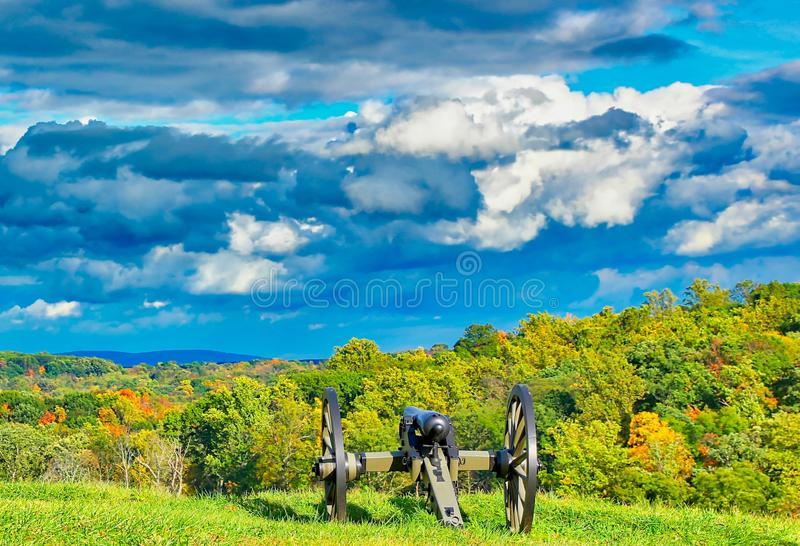 Amazing sky at Gettysburg, Pennsylvania. stock images
