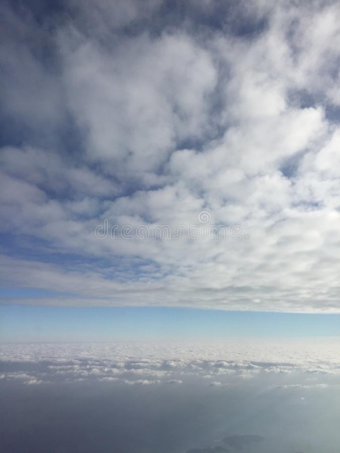 Amazing sky view with clouds stock image