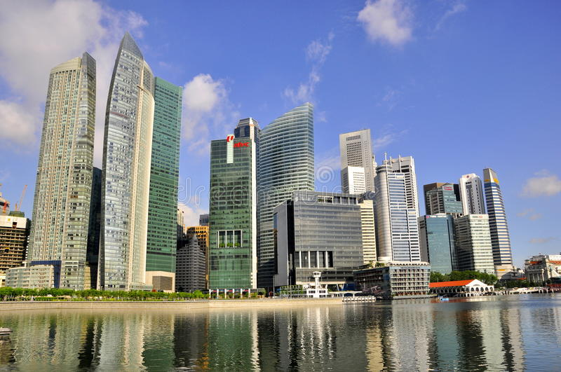 Download Amazing Skyscrapers, Singapore Skyline Editorial Image - Image: 20194390