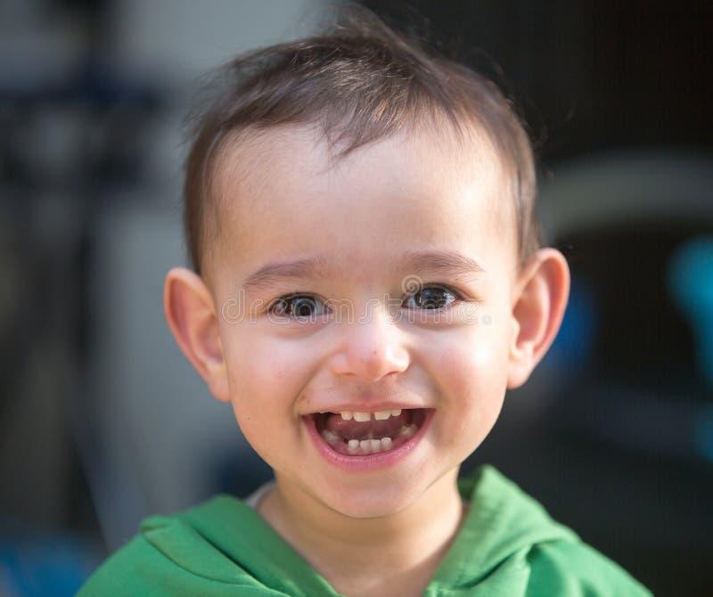 Amazing smile of a child stock photos