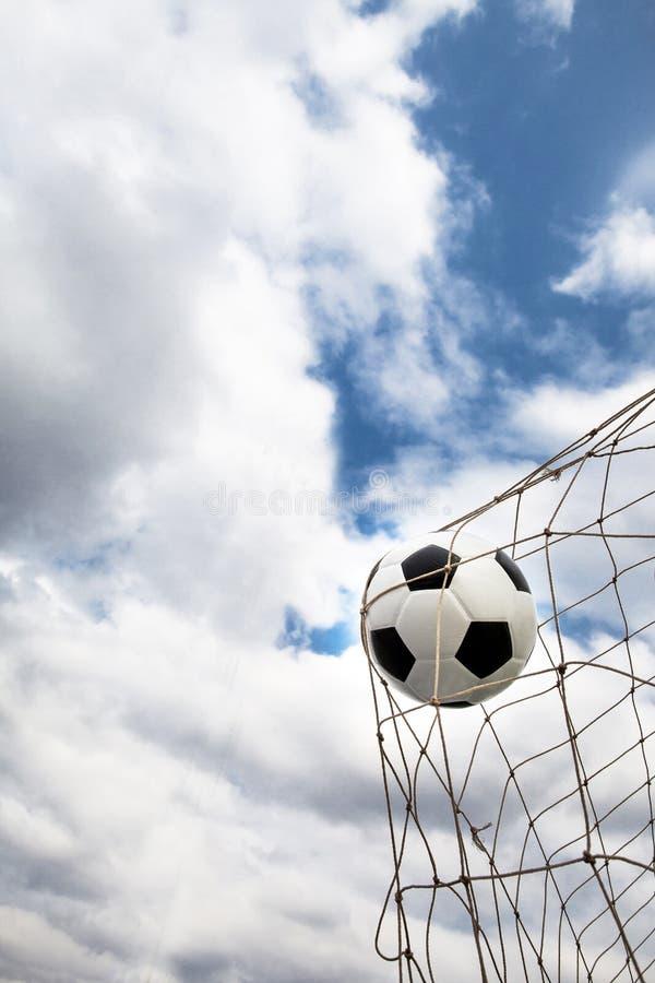 Amazing Soccer football Goal. stock photo