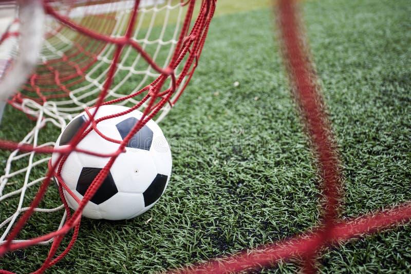Amazing Soccer football Goal. stock photos