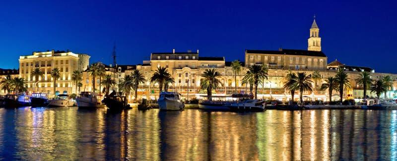Amazing Split waterfront evening panorama royalty free stock images
