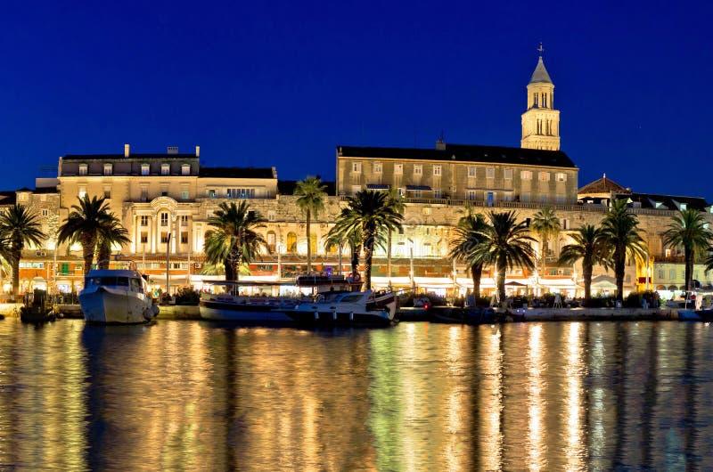 Amazing Split waterfront evening panorama stock images
