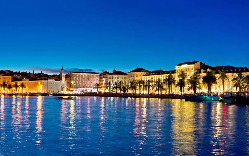 Amazing Split waterfront evening panorama royalty free stock image