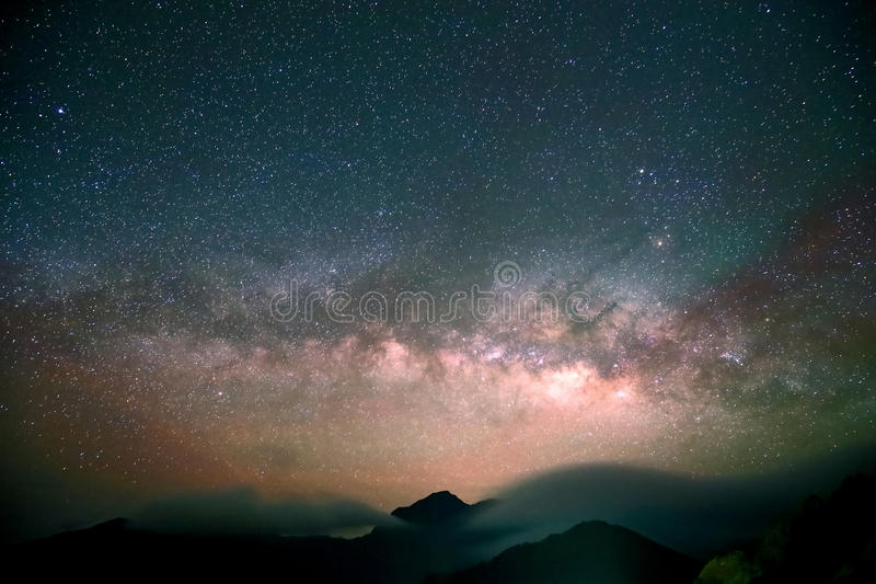 Amazing Star Night. Night scene milky way background in the galaxy royalty free stock photos