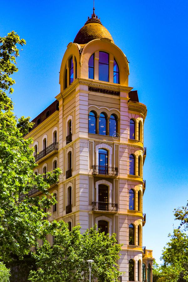 The amazing structure in Barcelona, Spain. The modern buildings in and around Barcelona are amazing to see on sightseeing trips royalty free stock photo