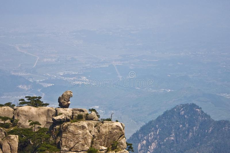 Amazing Stunning View of Huangshan Mountain, Yellow Mountaing. A royalty free stock photos