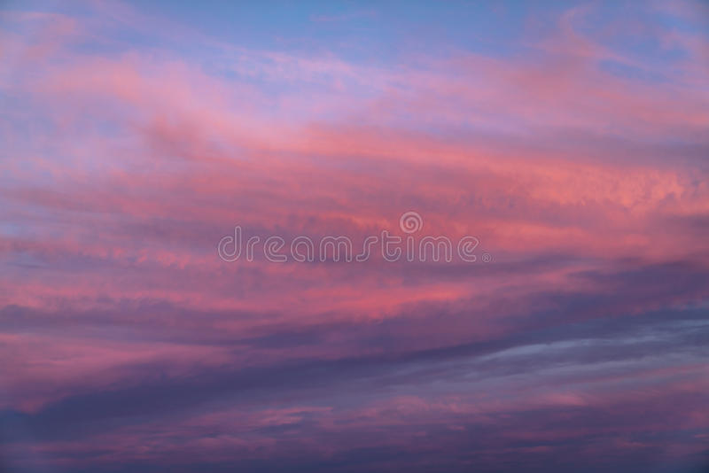 Amazing Sunset Clouds royalty free stock image