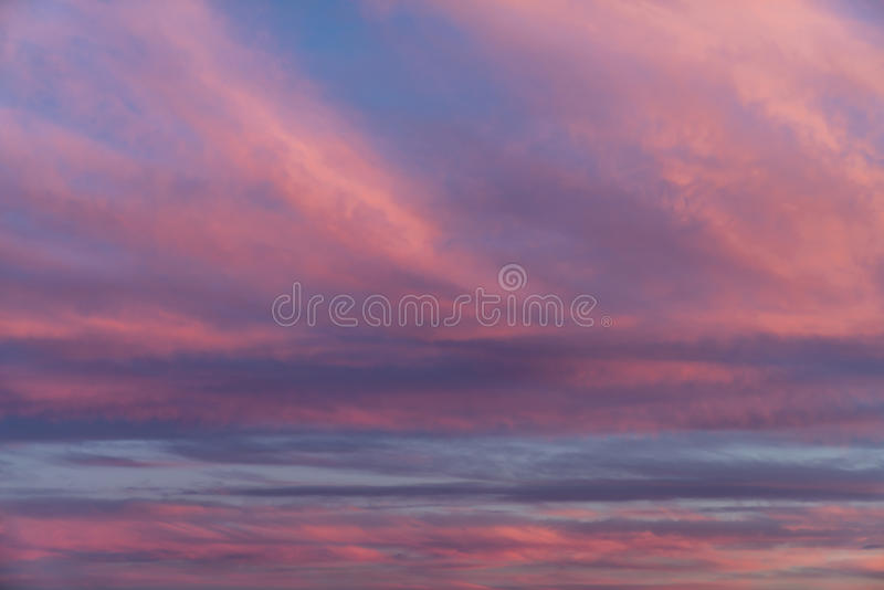 Amazing Sunset Clouds stock photo