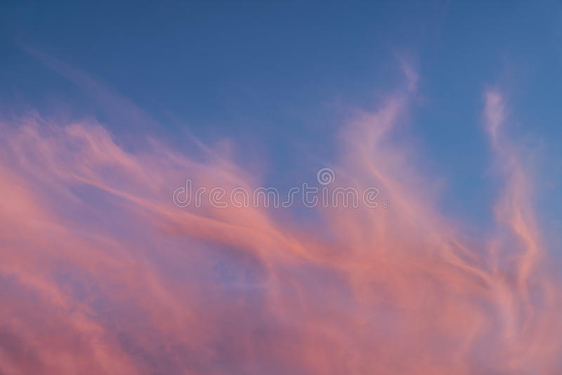 Amazing Sunset Clouds royalty free stock photos
