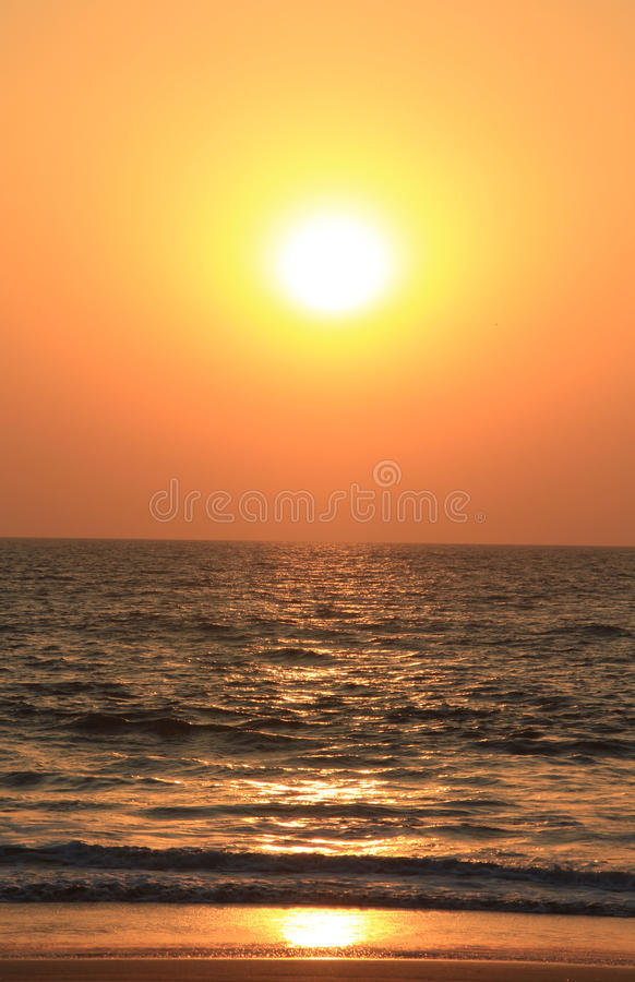 Amazing sunset in Goa, India royalty free stock photo