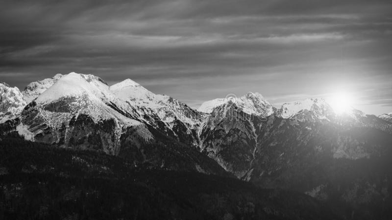 Amazing sunset over mountain scenery. royalty free stock photos