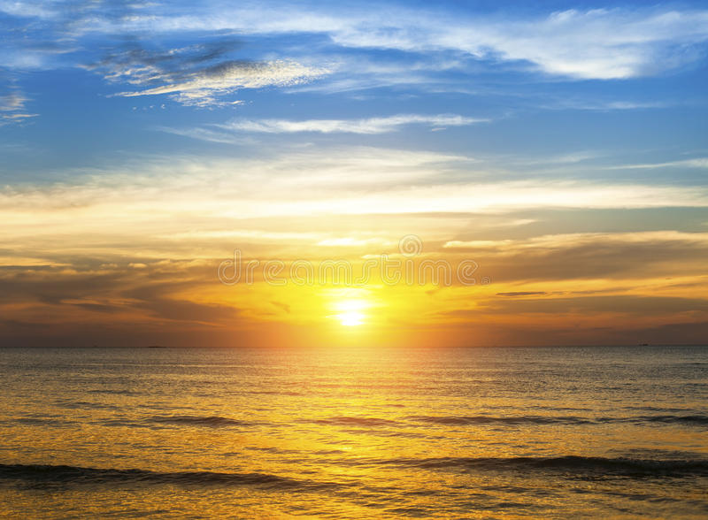 Amazing sunset over the ocean beach. Travel. royalty free stock images