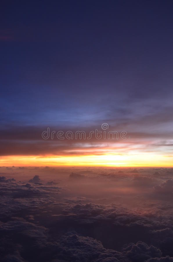 Amazing Sunset With Sea Of Clouds Stock Photography