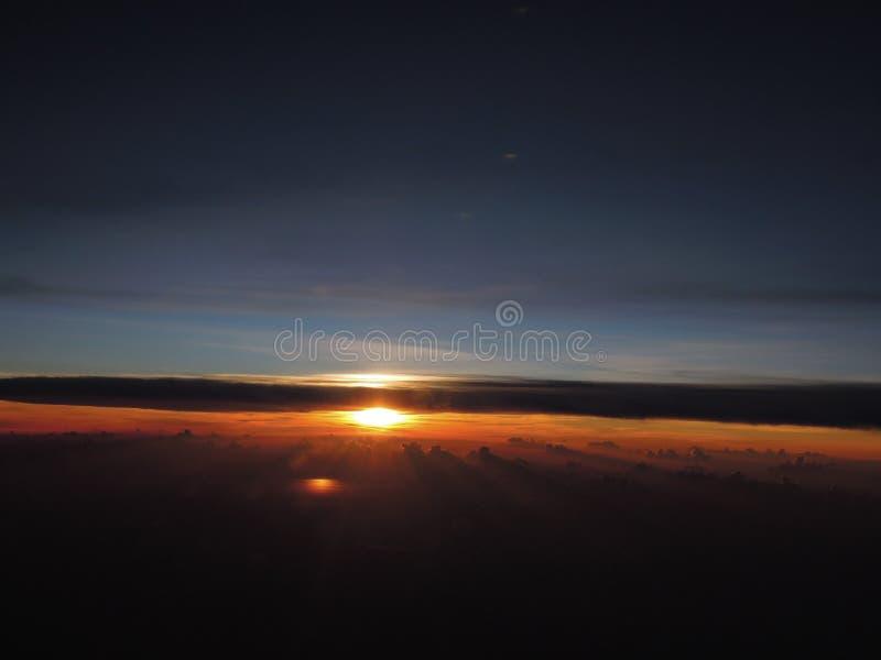 Download Amazing Sunset at Flight stock image. Image of wonderful - 30113713