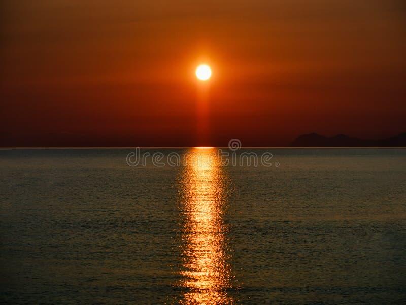 Amazing sunset or sunrise on the sea.  stock image