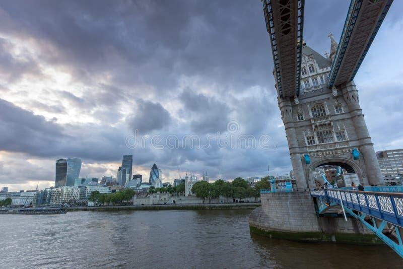 Amazing Sunset view of Tower Bridge in London, England stock photos
