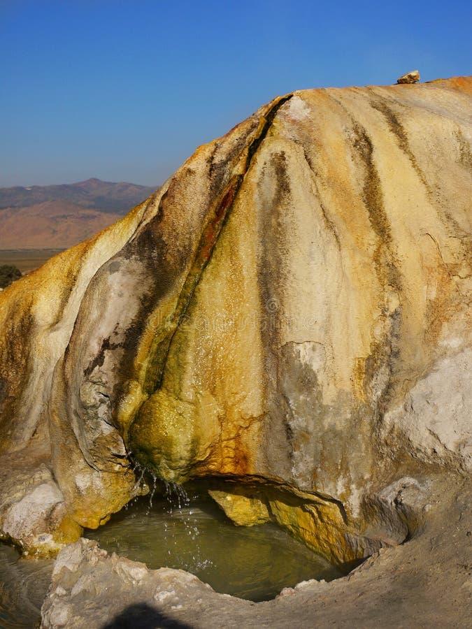 Amazing Travertine Hot Springs, Bridgeport California royalty free stock images