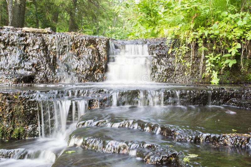 Amazing Treppoja stepped cascade waterfall stock photos