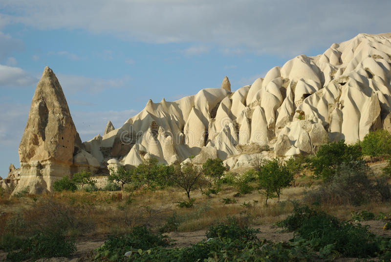 Amazing Tuff Formations In Cappadocia Stock Photo