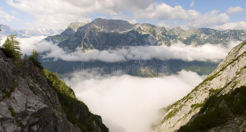 Amazing View Of Alps From The Cloud Royalty Free Stock Image