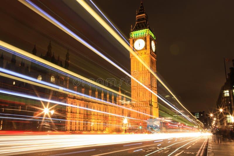 Amazing view of Big Ben at night. Wonderful view of Big Ben at night, London stock image