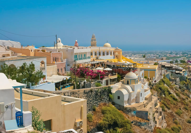 Download Amazing View Of Fira On Santorini Stock Photo - Image: 19642526