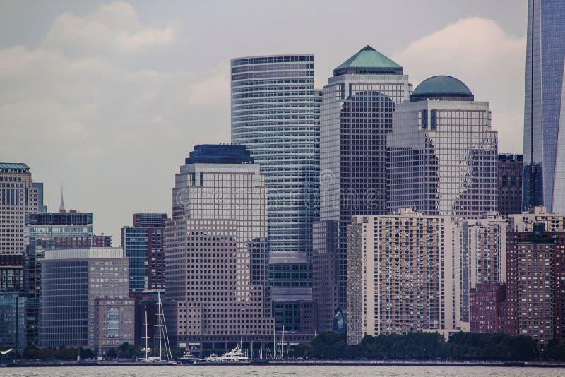 Amazing view of Manhattan New York skyline. Beautiful background stock photo