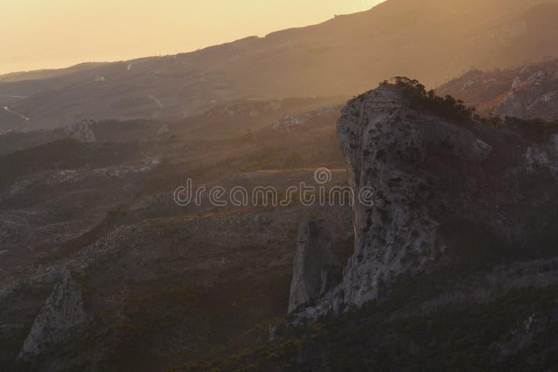 Amazing view from the mountain Ai-Petri. Crimea stock photos