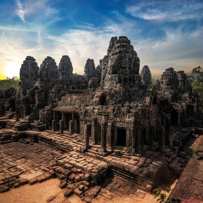 Free Amazing View Of Bayon Temple At Sunset. Angkor Wat, Cambodia Stock Photo - 44797120